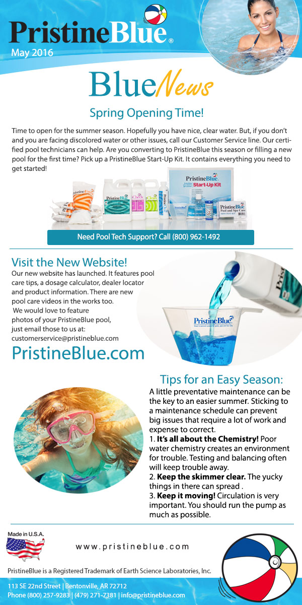 latest newsletter with pool care tips pristineblue